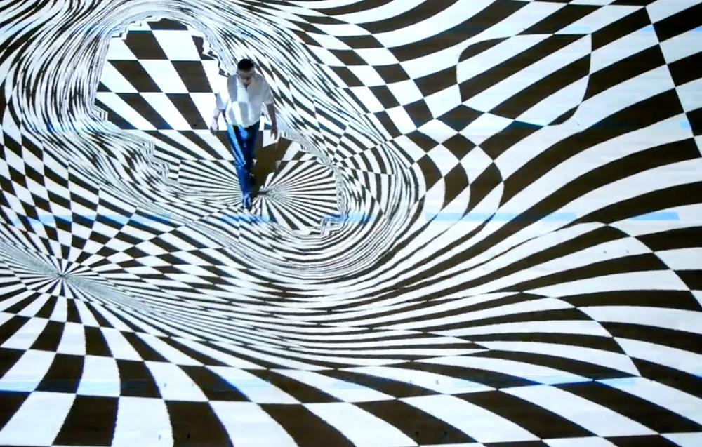 Onde Pixel Lo Sguardo Di By Miguel Chevalier Art