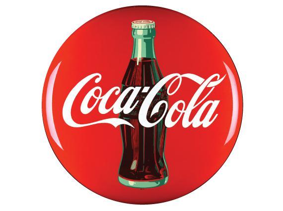 1950s Coca Cola Circular Logo
