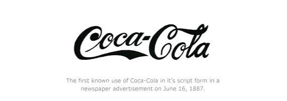 Primer logotipo de Coca Cola Script 1887
