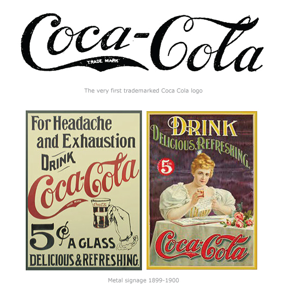 First trademarked Coca Cola Logo in 1893
