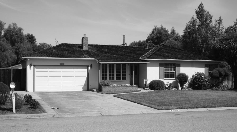 Apple Computer's First Headquarters -  A Garage in Los Altos California