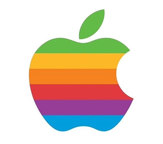 Apple's rainbow logo by Rob Janoff