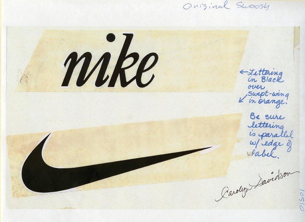 Original Logo Sketch by Carolyn Davidson, 1971