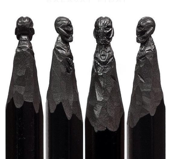 Salavat Fidai Graphite Pencil Sculptures