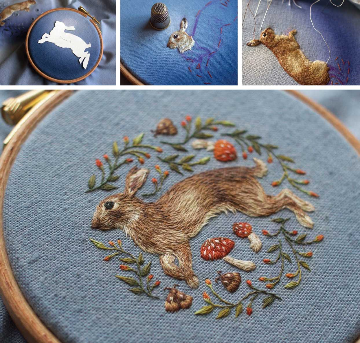 Image of Embroidery Paintings by Chloe Giorndano