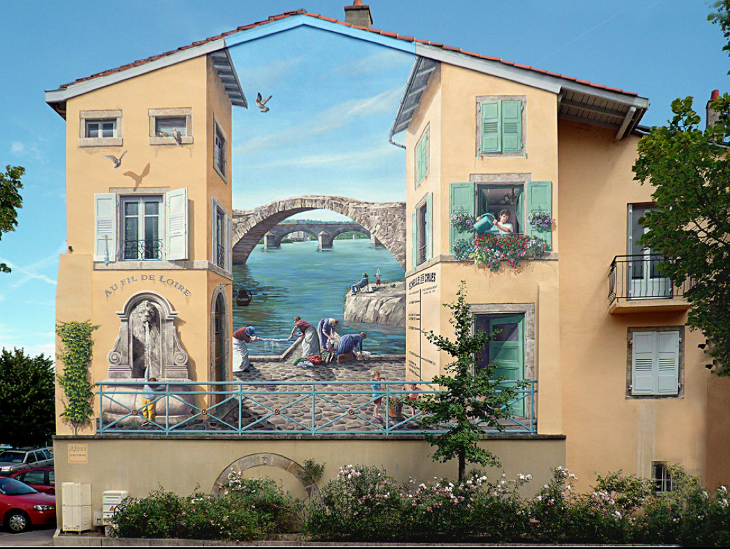 Image of Faux Facade Murals by Patrick Commecy
