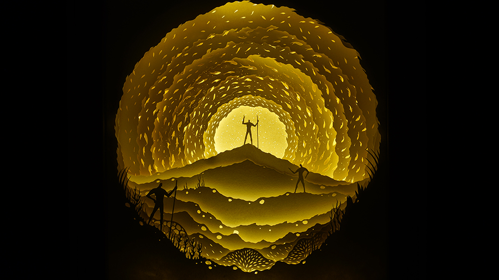 Image of Hari and Deepti Papercut Dioramas