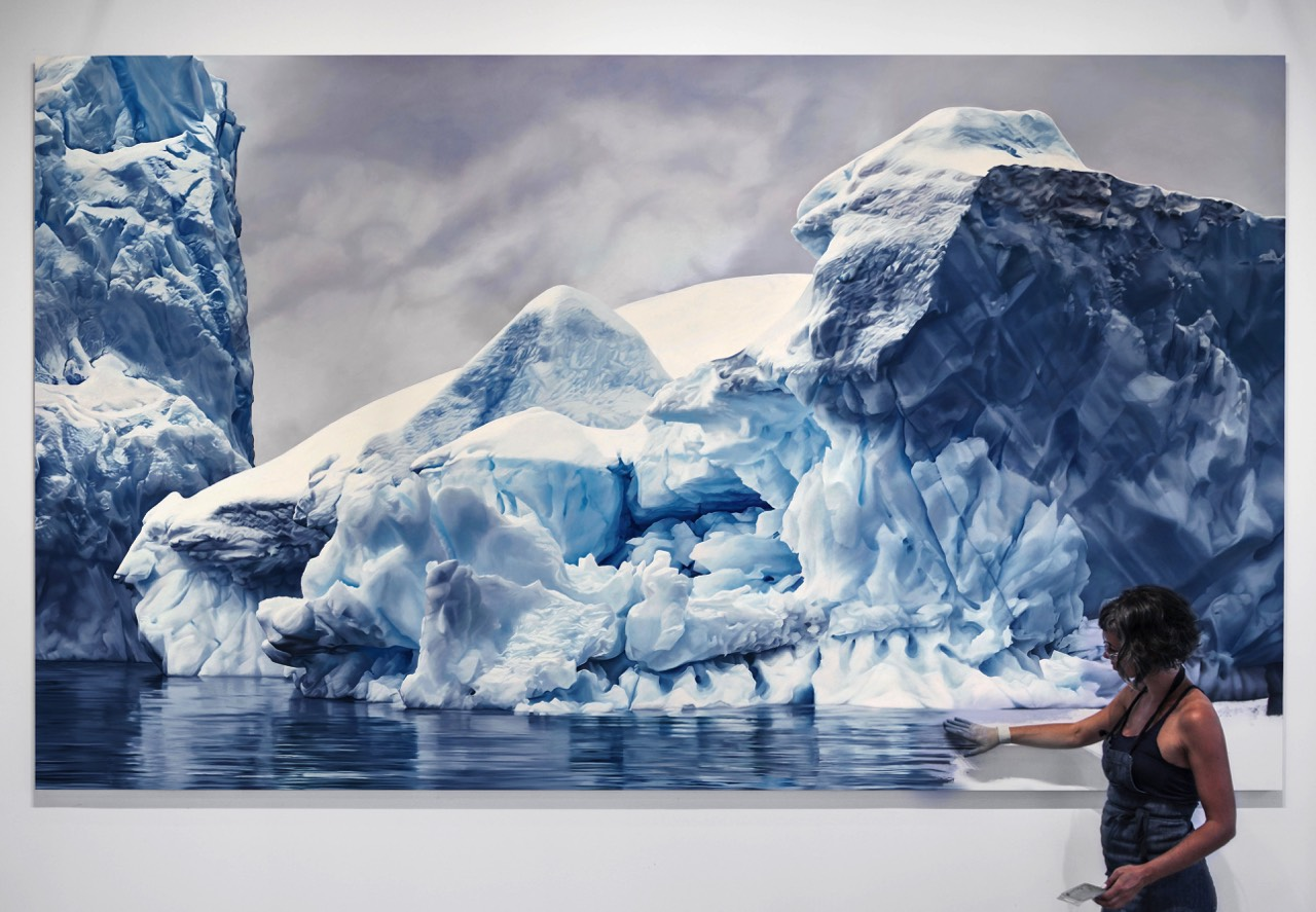 Hyperrealistic Pastel Landscapes by Zaria Forman