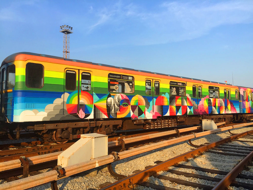 Image of Kiev Metro Painting by Okuda San Miguel
