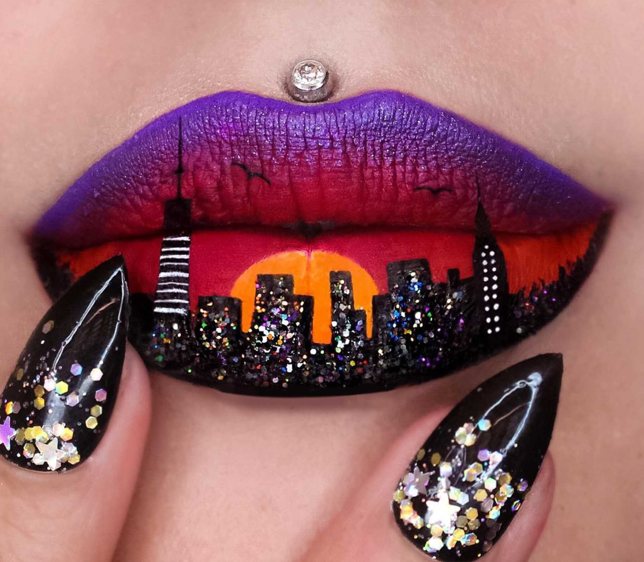 Image of Lip Painting by Jazmina Daniel