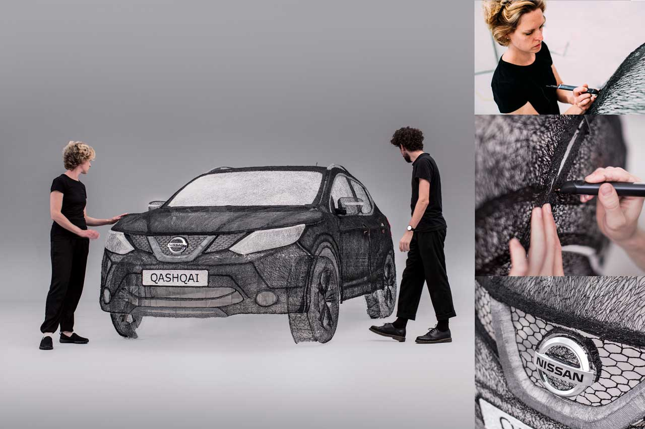 Image of Nissan Qashai 3Doodler Replica by Grace du Prez