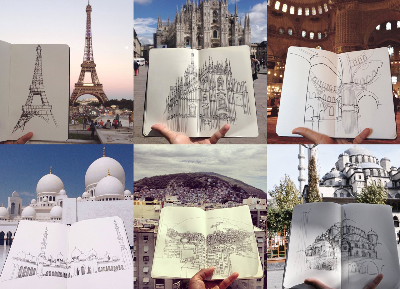 Image of Sketchbook Cityscapes by @tendtotravel