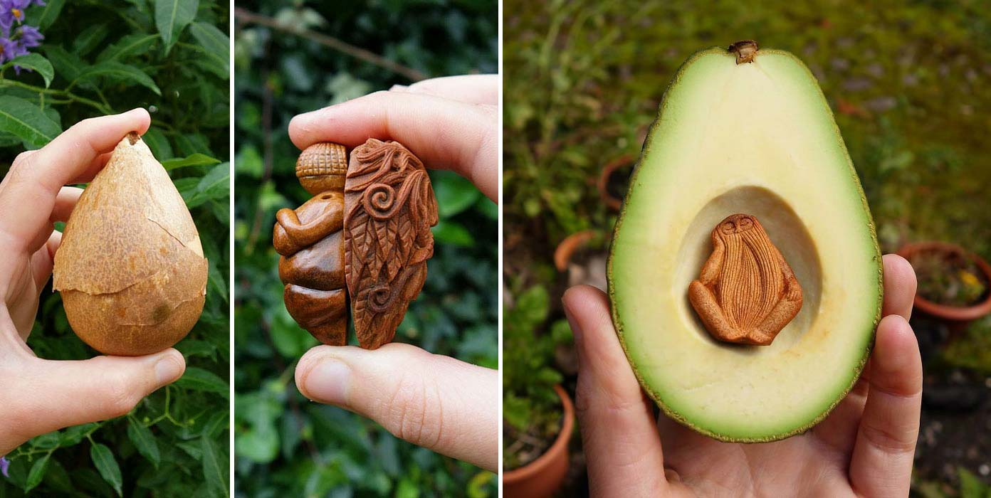 The Avocado Stone Carvings of Jan Campbell