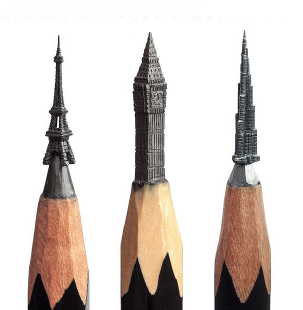 Image of The Carved Pencil Sculptures of Salavat Fidai