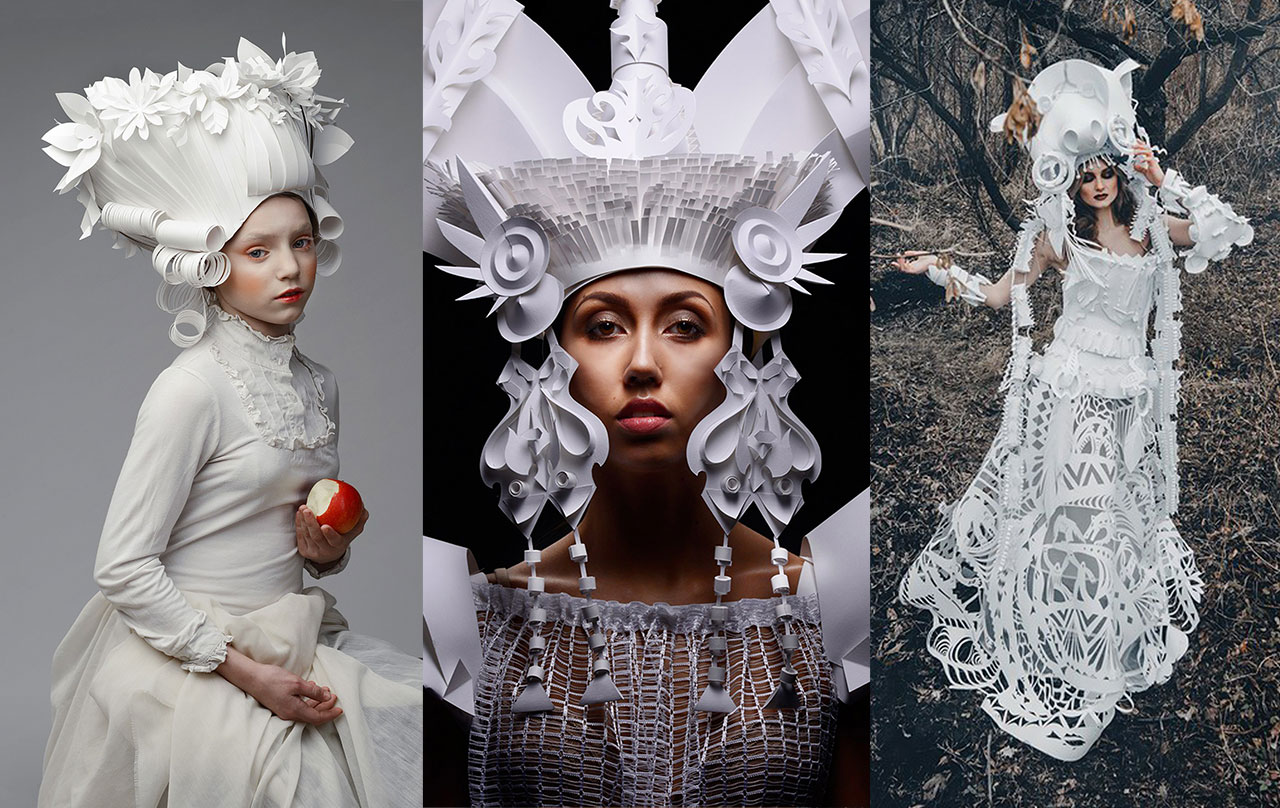 Image of The Fashionable Paper Sculptures of Asya Kozina