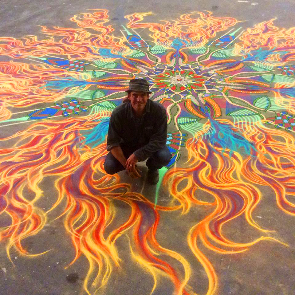 Image of The Vibrant Sand Paintings of Joe Mangrum