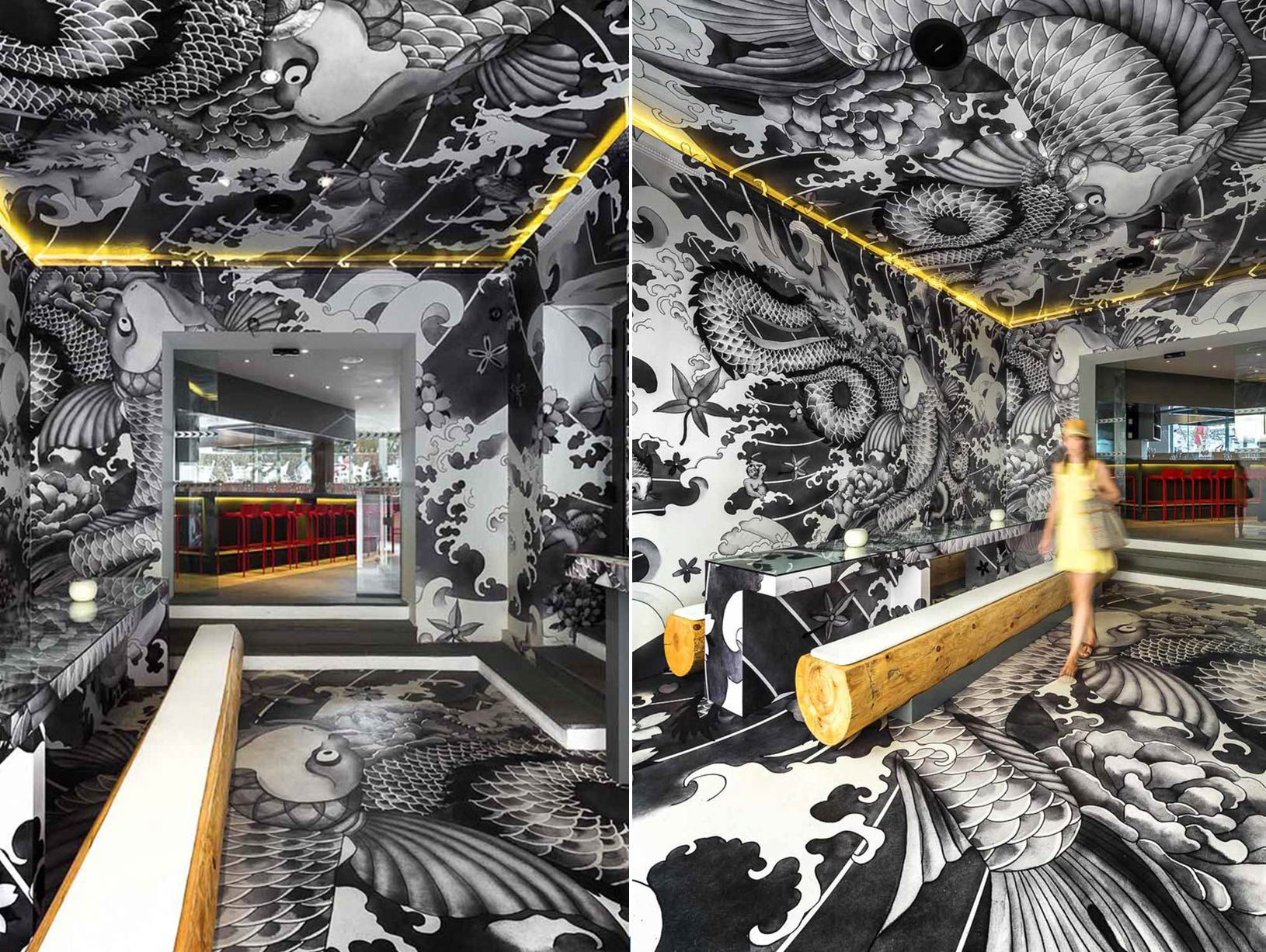 Image of Vincent Coste Inks Japanese Restaurant, Yakuza Style
