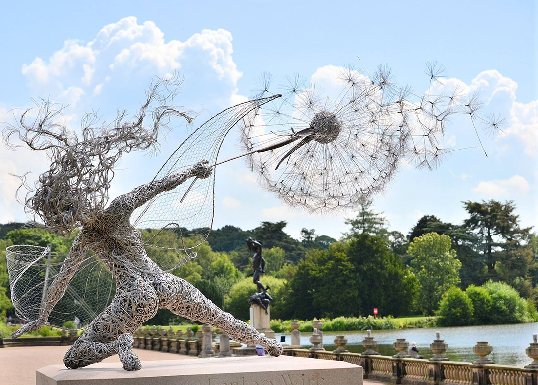 Wire Sculptures of Fairies by Robin Wight
