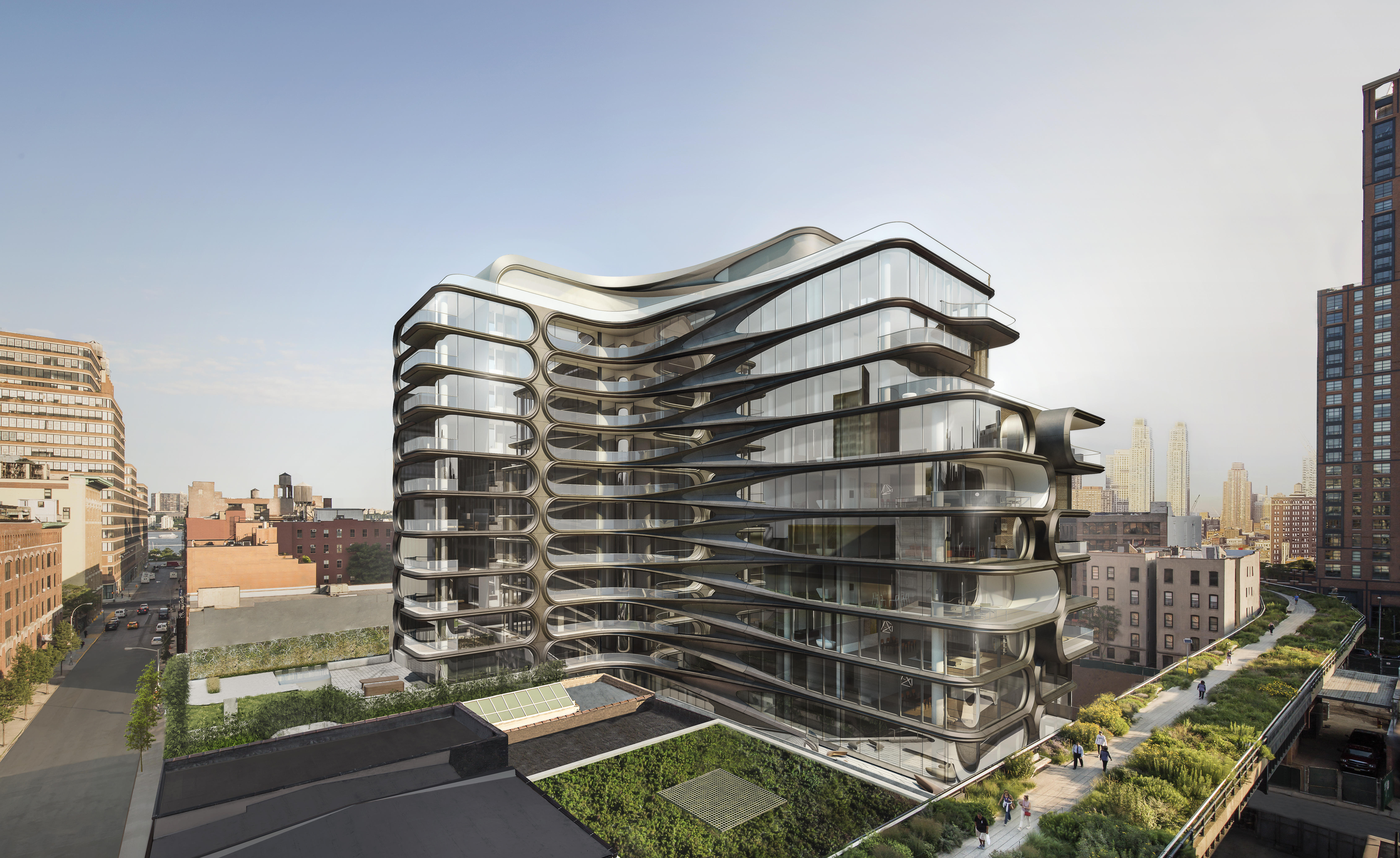 Image of Zaha Hadid Merges Highline and Skyline at 520 West 28th Street